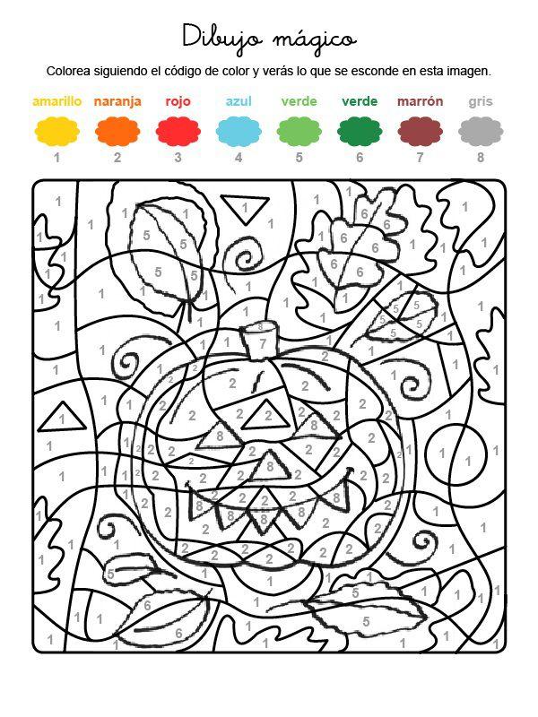 calabaza para colorear y pintar halloween