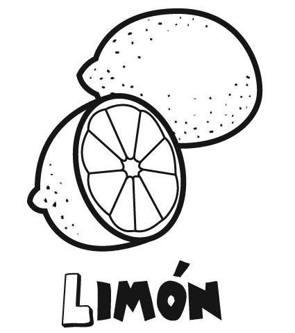 Limón para colorear y pintar