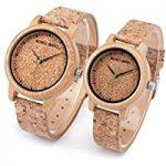 Relojes de Corcho natural para hombre y mujer