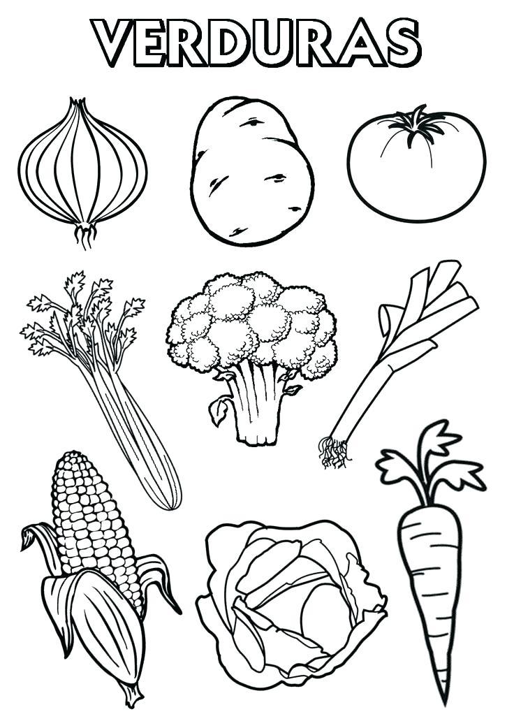 Dibujos De Frutas Y Verduras Para Colorear Tienda