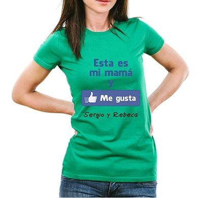 Camiseta me gusta. Dia de la madre