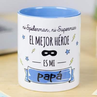 Taza con mensaje papa. Día del padre