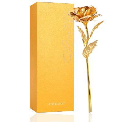 Rosas bañadas en oro