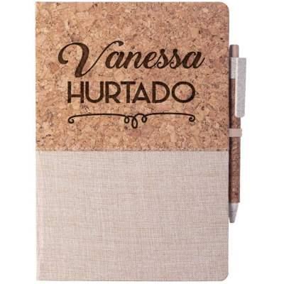Cuaderno de corcho personalizable